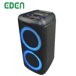 8 pulgadas de doble de gran potencia PA PRO batería inalámbrico portátil con Bluetooth profesional parte con luz LED AUDIO ALTAVOZ