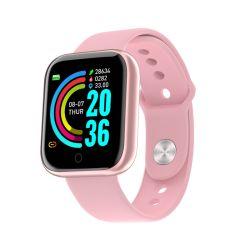 Цифровой монитор артериального давления Bluetooth спорта запястья Smart подарочные часы женщин Детский розовый GPS для мобильного телефона