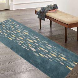 러그 피시 카펫 아크릴 깔개 바닥 카펫 울