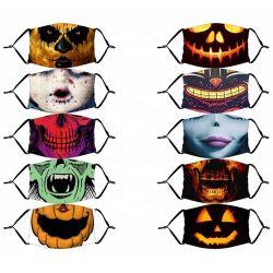 Halloween Máscara de protección de la máscara facial con máscara de Halloween dibujos animados de miedo