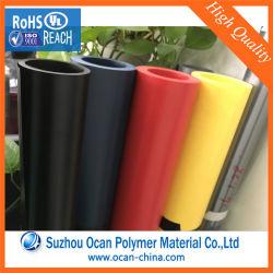 Verde fluorescente folha rígida de PVC para artigos de papelaria