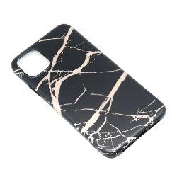 La ranura 2 mm singular Protección 360 funda de teléfono móvil de mármol de TPU para iPhone
