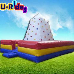Alfombrilla de plaza de la pared de escalada en roca de aire inflables inflables montaña escalada para el Carnaval