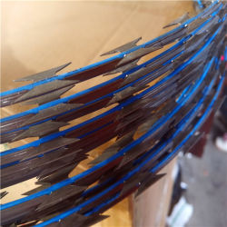 سلك شائك مغلفن أو مغلفن من مادة PVC 33 حلقات Coil Razor