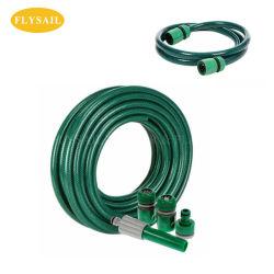 PVC transparent en plastique flexible tressé en fibre de l'eau jardin hydraulique renforcée avec le raccord de flexible du tuyau