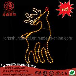 Decoratieve Licht van Kerstmis van het Motief van het grote 2D Openlucht LEIDENE Rendier van Godlen het Gele