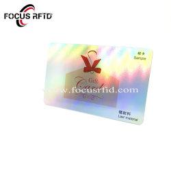 Scheda pagata anticipatamente CI di plastica di identificazione VIP della scheda di lealtà di forma fisica della scheda del PVC di abitudine RFID Gfit