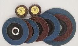 ファイバーガラスの基礎紙やすりで磨く折り返しディスクが付いているカスタマイズされた研摩の折り返しディスクディスク