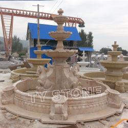 Pierre de jardin grande piscine de l'eau des fontaines