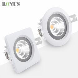Indicatore luminoso chiaro Downlight d'accensione dell'interno del punto del soffitto della lampada dell'alluminio IP65 LED COB/SMD giù
