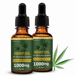 1000mg etiquetas privadas orgánica natural puro Cbd el aceite de cáñamo