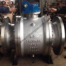 Haute température du moteur de pipe-line Split corps Port Ss réduit clapet à bille