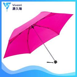 Paraplu van de Gift van Vijf Vouwen van de Reis van de goede Kwaliteit de Mini Lichtgewicht Anti UV