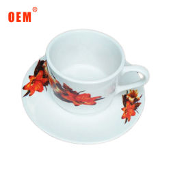 Фарфоровые чашки чая и форму диска устанавливает оптовая торговля керамической посуды