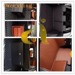 Auto-Fußboden-Auto-Sitzstickerei Belüftung-Leder mit mit hoher Schreibdichteschaumgummi und nichtgewebtem Gewebe