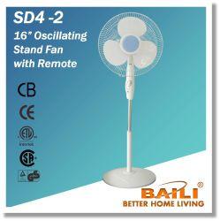 """Ventilatore d'oscillazione del basamento di colore bianco 16 """" con il periferico"""