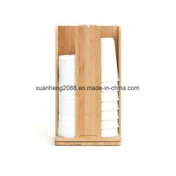 Custom Ec-Friendly хорошее качество бумаги из бамбука чашки держатель для установки в стойку для кафе