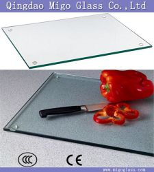 3-10mm incassables en verre trempé les planches à découper / planche à hacher en verre renforcé