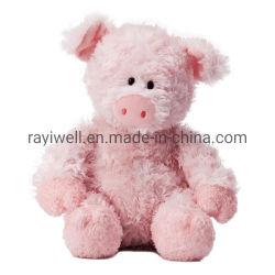 卸し売りカスタムバレンタインのクリスマスのプラシ天によって詰められる柔らかいおもちゃのピンクのブタ