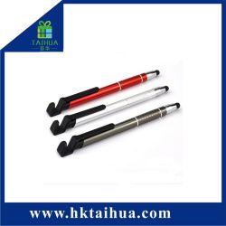 Toque multifuncional Stylus Segure a caneta para presente de promoção da bola de metal