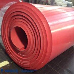 60 Shore A Feuilles en caoutchouc rouge pour l'application de manipulation des matériaux bruts