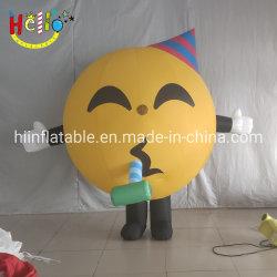 Almofada insuflável curta grande sorriso sorridente clamor diante de fatos Cosplay Emoji