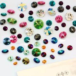 上の販売の水晶石造りの水晶ビードの装飾の石のRivoliの石