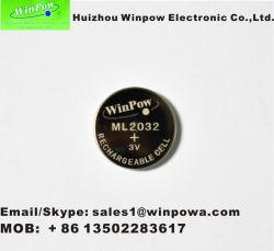 Nachladbare Batterie-Lithium-Tasten-Zelle der trockenen Zellen-Ml2032 für Fernsteuerungs