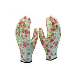 La promoción de nitrilo guantes de protección personal del jardín con Logo