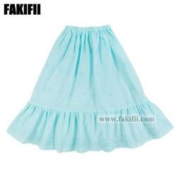 El verano Cutomised Comercio al por mayor ropa de niños Niño Niña vestido bordado azul falda larga de desgaste del Partido de lujo