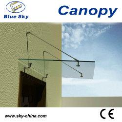 Toit en verre et porte en acier inoxydable de la canopée (B900)