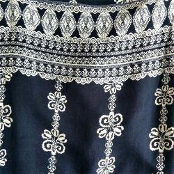 Viscose katoen stof met zeefdruk voor dames kleding