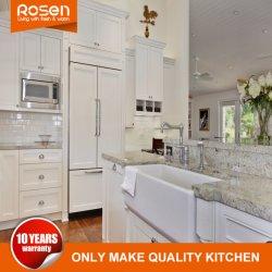 Estilo clásico de MDF Melamina blanca con acabados armarios Muebles de Cocina