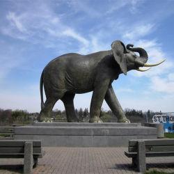 Statua animale del grande elefante d'ottone del getto del giardino per la decorazione