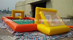 Heißer Verkaufs-Seifen-Spiel-Wasser-Fußball-Nicken-aufblasbarer Fußballplatz