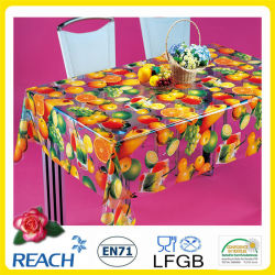 Design新しいPVC TransparentおよびEmbossed Tablecloth Factory (TJ3D0004)