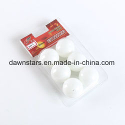 白い直径40mm PPのピンポン球、卓球の球
