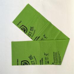 Venda por grosso de amido de milho 100 biodegradável farinha de amido de embalagens de plástico Sacos de lixo de plástico de amido de milho, Rolo de saco de lixo /sacos de compras
