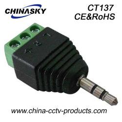 mono connettore stereo maschio del CCTV di 3.5mm con il terminale di vite (CT137)