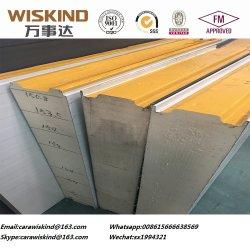 Painel de isolamento de metal do painel do tipo sanduíche de EPS/PU/PIR/lã de rocha para parede Builind de aço e painel do tecto