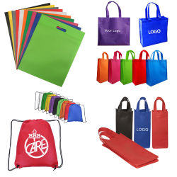 Eco-Friendly saco não tecidos promocionais personalizadas Sacola de Compras Sacola grande Non-Woven laminado