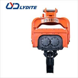 掘削機のための油圧杭打ち機の接続機構