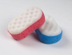 Agua de forma personalizada ampliar sin látex PU esponja de baño del bebé