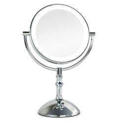 Table pivotante double côtés entouré de lumière miroir cosmétique