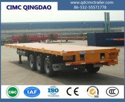 Cimc semirimorchio 12 del contenitore dei 3 assi spinge il rimorchio del camion della base piana di 40FT semi