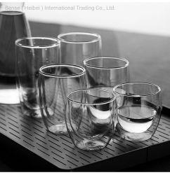 عادية [بوروسليكت] ضعف جدار زجاجيّة فنجان آنية زجاجيّة