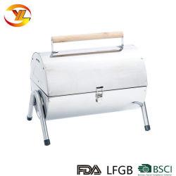 En plein air portable double côté statif valise de pliage Baril Barbecue