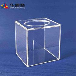 Huashuaiteはアクリルの製品の低価格の高品質のアクリルボックスか表示をカスタマイズする