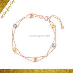 Comercio al por mayor fábrica de joyas Pulsera de plata 925 joyas de oro