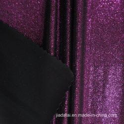 水着のための光沢がある紫色ホイルプリントスパンデックスのナイロンファブリック